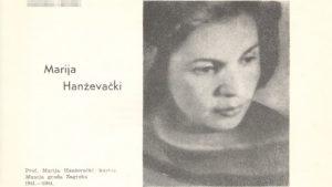 Peticija za povrat spomen-ploče Mariji Hanževački